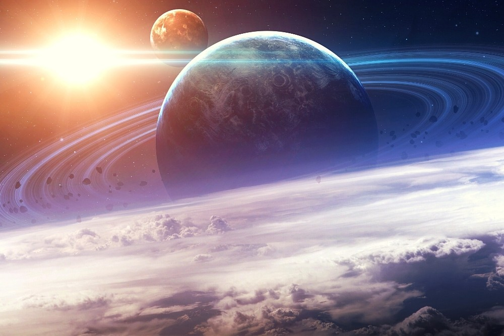 Space planets - mars, moon, sun, and more.