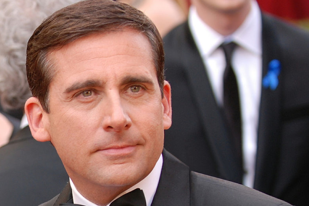 Steve Carell playing Michael Scott in The Office.